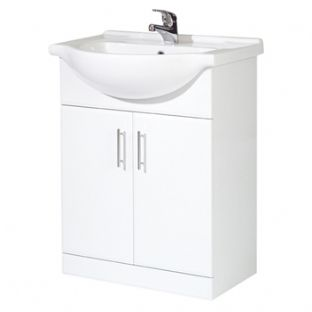 Frontline Aquachic high gloss white 800 base unit & top inc. basin